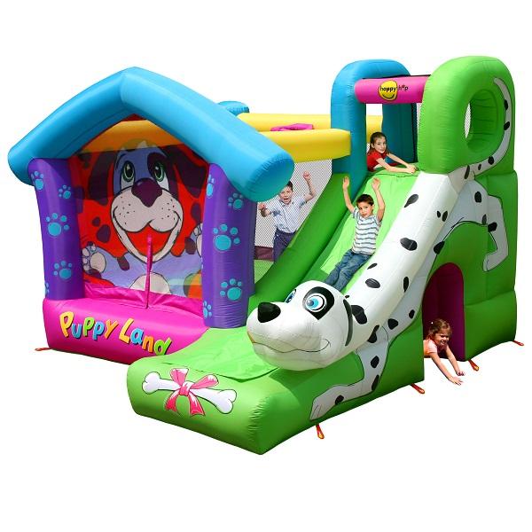 Happy Hop springkussen Puppyland met glijbaan 9109